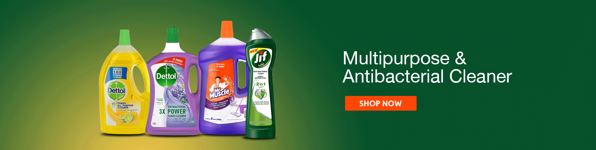 Multipurpose & Antibacterial Cleaners